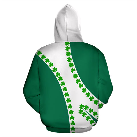 Image of Ireland Hoodie Patterns Shamrock - Sports Style TH5