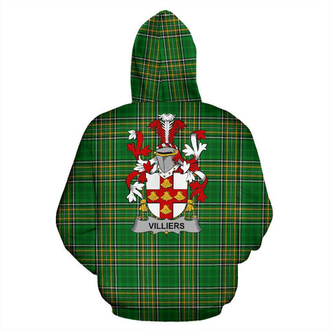 Villiers Ireland Hoodie Irish National Tartan (Pullover) | Women & Men | Over 1400 Crests