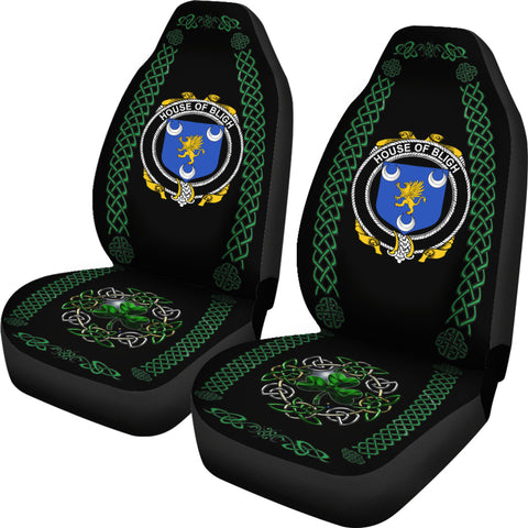 Image of Bligh Ireland Shamrock Celtic Irish Surname Car Seat Covers TH7