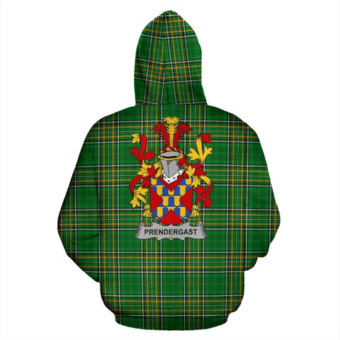Prendergast Ireland Hoodie Irish National Tartan (Pullover) | Women & Men | Over 1400 Crests