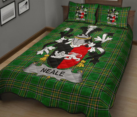 Image of Neale Ireland Quilt Bed Set Irish National Tartan | Over 1400 Crests | Home Set | Bedding Set