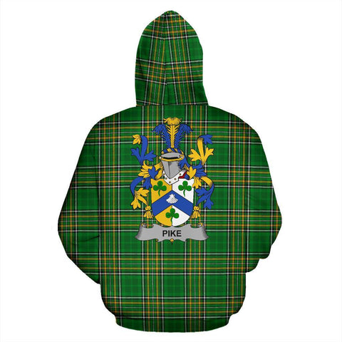 Pike Ireland Hoodie Irish National Tartan (Pullover) | Women & Men | Over 1400 Crests