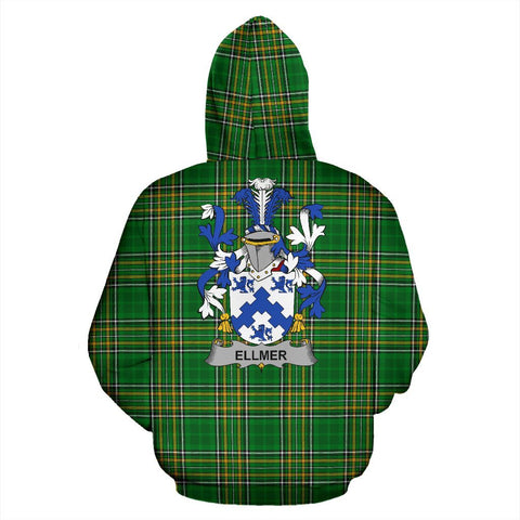 Ellmer Ireland Hoodie Irish National Tartan (Pullover) | Women & Men | Over 1400 Crests