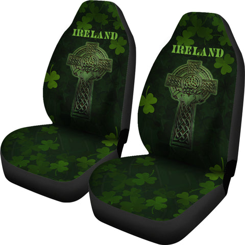 Image of Irish Celtic Claddagh Cross Car Seat Covers 1