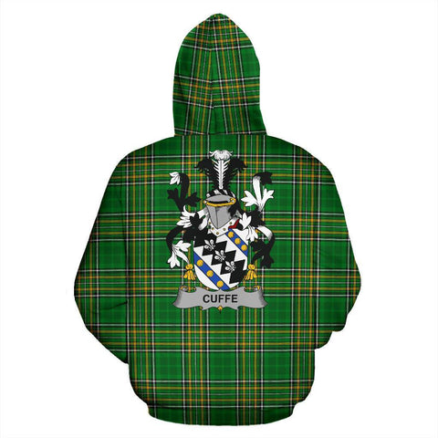 Cuffe Ireland Hoodie Irish National Tartan (Pullover) | Women & Men | Over 1400 Crests