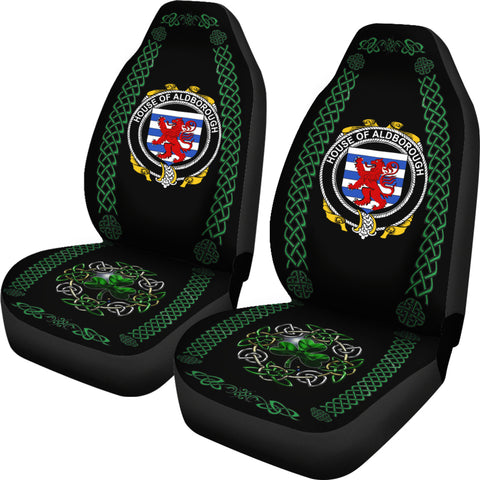 Image of Aldborough Ireland Shamrock Celtic Irish Surname Car Seat Covers TH7