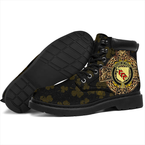 Image of Prior Family Crest Shamrock Gold Cross 6-inch Irish All Season Boots K6