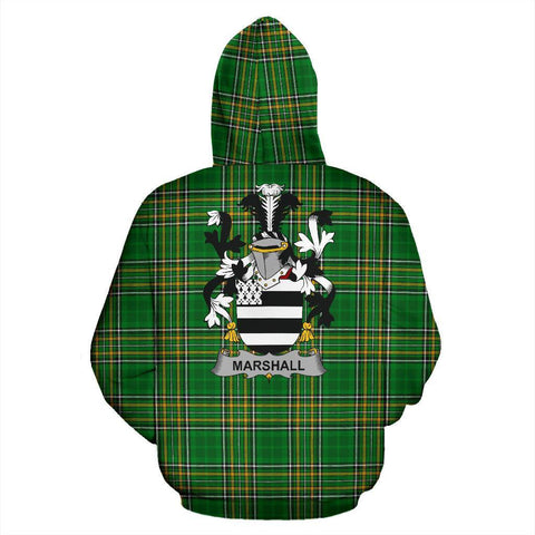 Marshall Ireland Hoodie Irish National Tartan (Pullover) | Women & Men | Over 1400 Crests