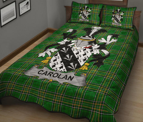 Carolan Ireland Quilt Bed Set Irish National Tartan | Over 1400 Crests | Home Set | Bedding Set