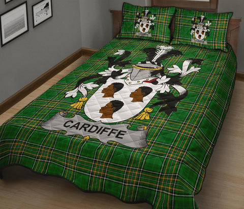 Cardiffe Ireland Quilt Bed Set Irish National Tartan | Over 1400 Crests | Home Set | Bedding Set