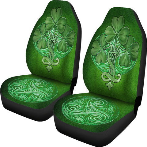 Image of Glorious Shamrock™ Celtic Knot Car Seat Covers - Universal Fit - TH7