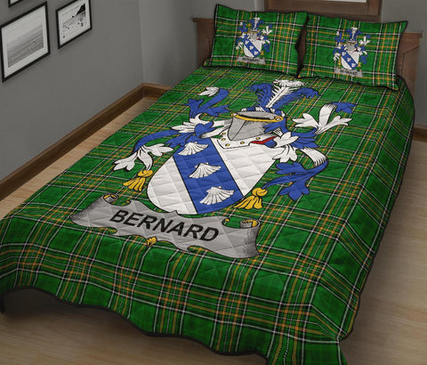Bernard Ireland Quilt Bed Set Irish National Tartan | Over 1400 Crests | Home Set | Bedding Set