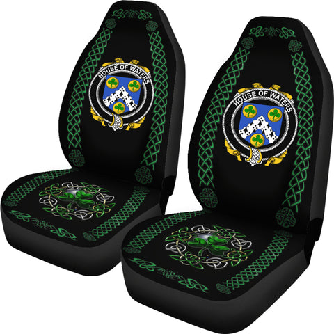 Waters Ireland Shamrock Celtic Irish Surname Car Seat Covers TH7