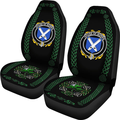 Norris Ireland Shamrock Celtic Irish Surname Car Seat Covers TH7