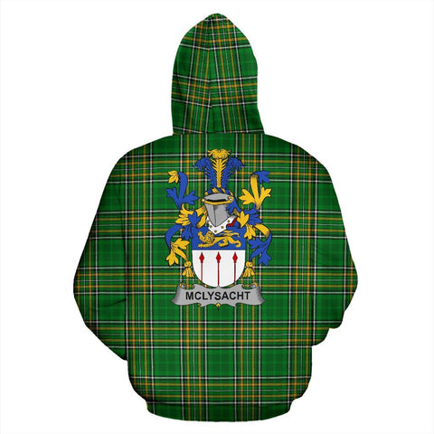 McLysacht or Lysacht Ireland Hoodie Irish National Tartan (Pullover) | Women & Men | Over 1400 Crests