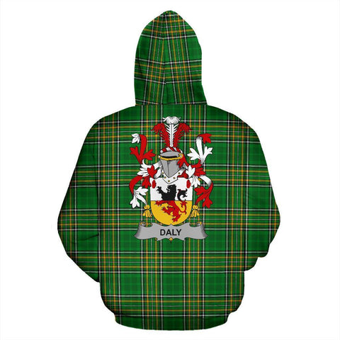 Daly or O'Daly Ireland Hoodie Irish National Tartan (Pullover) | Women & Men | Over 1400 Crests