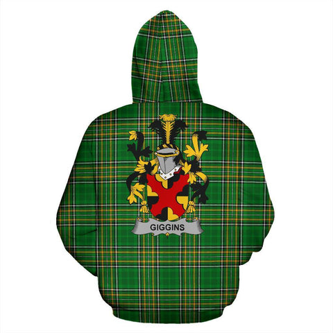 Giggins Ireland Hoodie Irish National Tartan (Pullover) | Women & Men | Over 1400 Crests