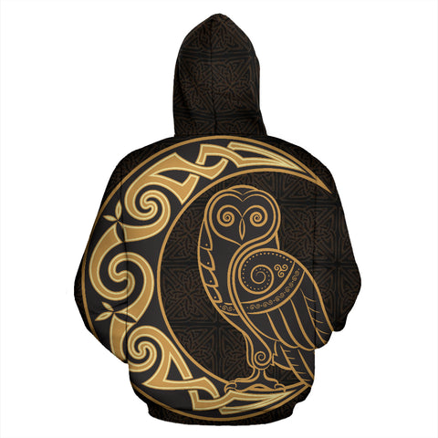Celtic Owl And The Moon™ - Celtic Hoodie TH7