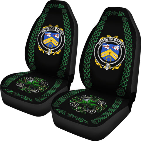 Image of Mackey Ireland Shamrock Celtic Irish Surname Car Seat Covers TH7