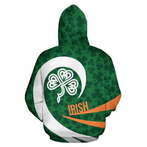 Irish Hoodie Shamrock Roll Into My Heart TH2