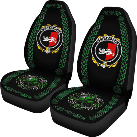 Neale Ireland Shamrock Celtic Irish Surname Car Seat Covers TH7