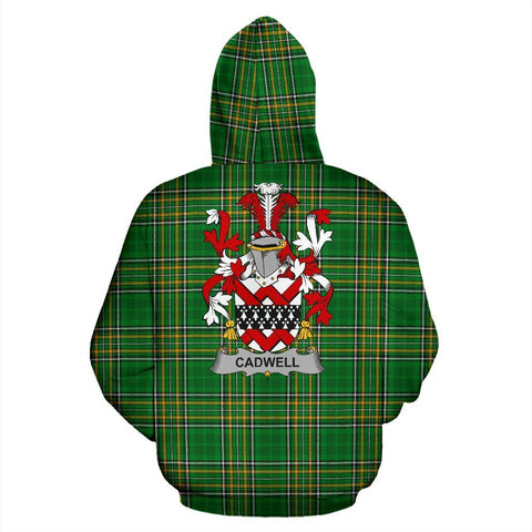 Cadwell or Caddell Ireland Hoodie Irish National Tartan (Pullover) | Women & Men | Over 1400 Crests
