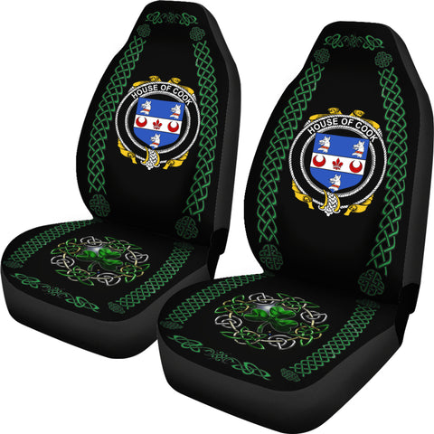 Cook Ireland Shamrock Celtic Irish Surname Car Seat Covers TH7
