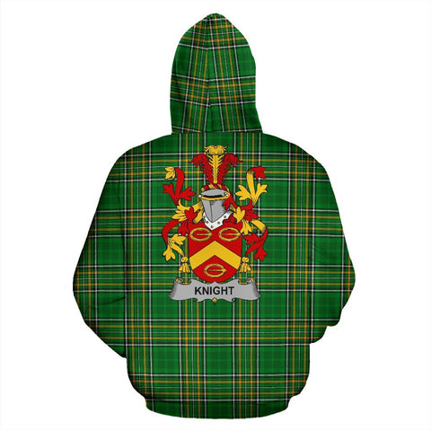 Image of Knight Ireland Hoodie Irish National Tartan (Pullover) | Women & Men | Over 1400 Crests
