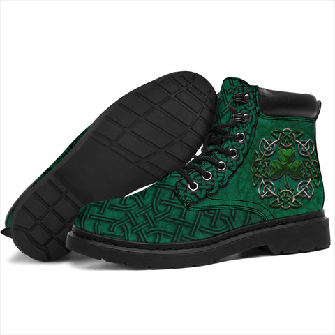 Ireland All Season Boots Celtic Shamrock, Irish St Patrick's Day Boots K4