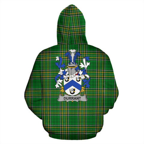 Durrant Ireland Hoodie Irish National Tartan (Pullover) | Women & Men | Over 1400 Crests