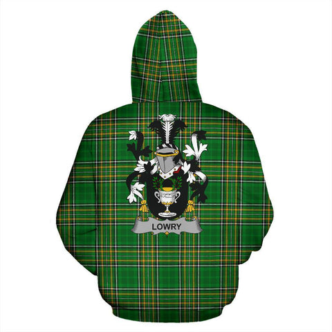 Lowry or Lavery Ireland Hoodie Irish National Tartan (Pullover) | Women & Men | Over 1400 Crests