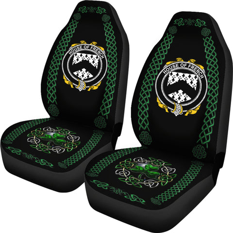 French Ireland Shamrock Celtic Irish Surname Car Seat Covers TH7