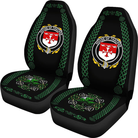 Thacker Ireland Shamrock Celtic Irish Surname Car Seat Covers TH7