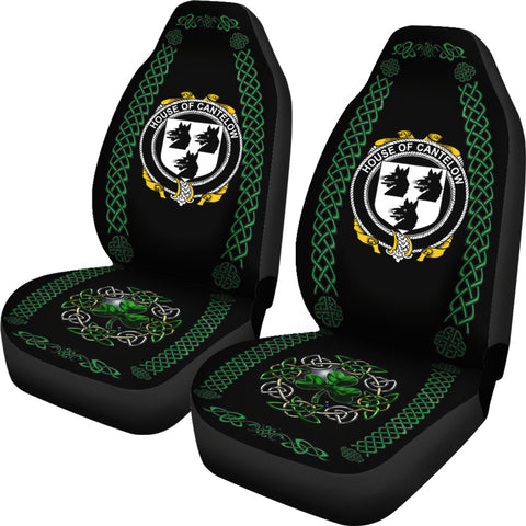 Cantelow (e) Ireland Shamrock Celtic Irish Surname Car Seat Covers TH7