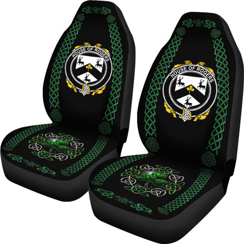 Rogers Ireland Shamrock Celtic Irish Surname Car Seat Covers TH7