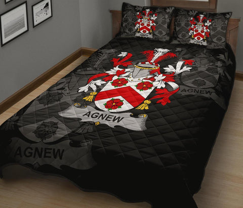 Irish Quilt Bed Set, Agnew Family Crest Premium Quilt And Pillow Cover A7
