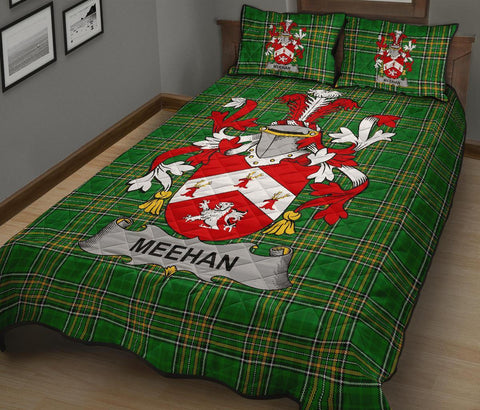 Meehan or O'Meighan Ireland Quilt Bed Set Irish National Tartan | Over 1400 Crests | Home Set | Bedding Set