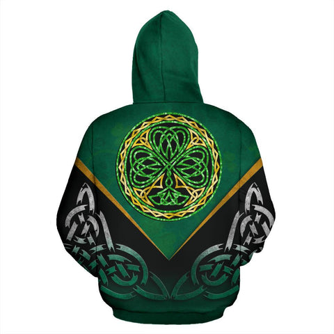 Irish Celtic Knot Zip Up Hoodie Shamrock | Love Ireland | Clothing back