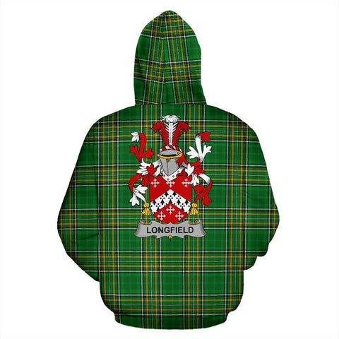 Longfield Ireland Hoodie Irish National Tartan (Pullover) | Women & Men | Over 1400 Crests