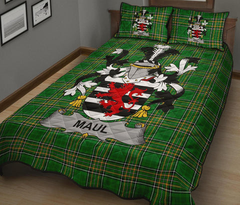 Maul or Maule Ireland Quilt Bed Set Irish National Tartan | Over 1400 Crests | Home Set | Bedding Set