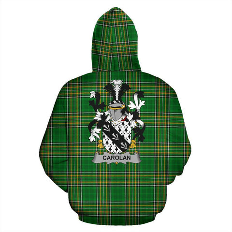 Image of Carolan Ireland Hoodie Irish National Tartan (Pullover) | Women & Men | Over 1400 Crests