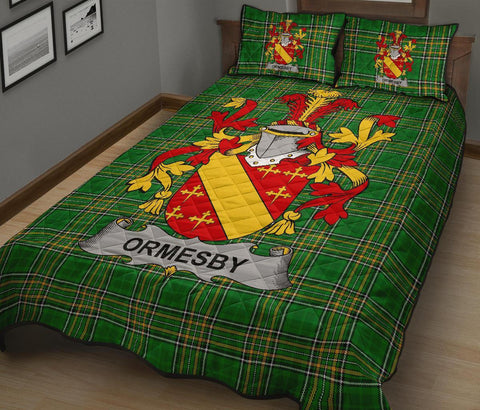 Ormesby Ireland Quilt Bed Set Irish National Tartan | Over 1400 Crests | Home Set | Bedding Set