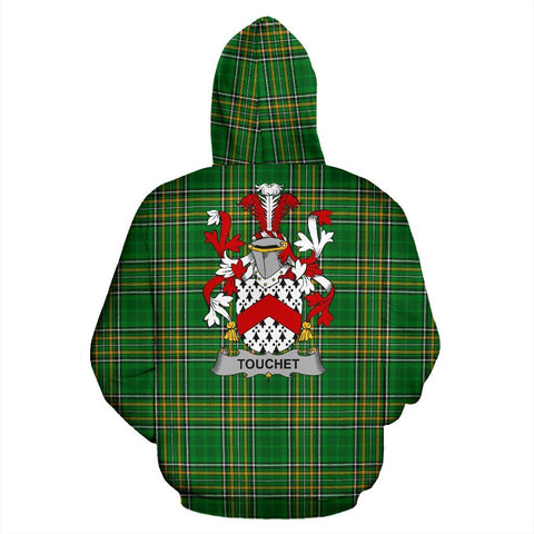Image of Touchet Ireland Hoodie Irish National Tartan (Pullover) | Women & Men | Over 1400 Crests