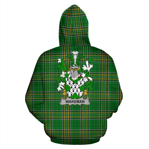 Wakeman Ireland Hoodie Irish National Tartan (Pullover) | Women & Men | Over 1400 Crests