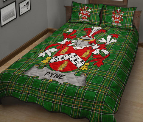Image of Pyne Ireland Quilt Bed Set Irish National Tartan | Over 1400 Crests | Home Set | Bedding Set