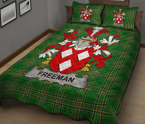 Freeman Ireland Quilt Bed Set Irish National Tartan | Over 1400 Crests | Home Set | Bedding Set