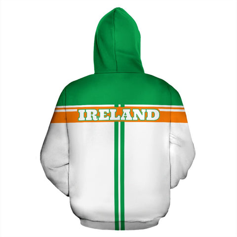 Ireland All Over Zip-Up Hoodie - Circle Style - BN04