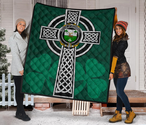 Irish Quilt, Connell or O'Connell Family Crest Premium Quilt TH47