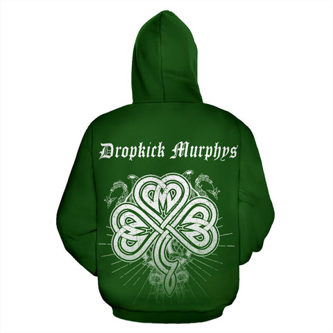 Image of Dropkick Murphys Celtic Shamrock Hoodie back