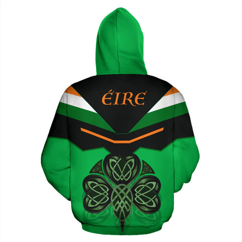 Ireland Celtic Shamrock Hoodie - Green Color - Back